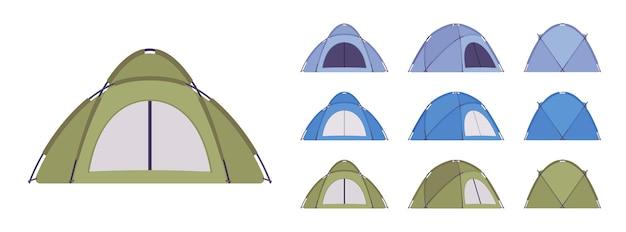 Zestaw namiotów kopułowych