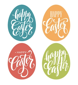 Zestaw napis happy easter egg