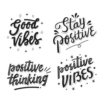 Zestaw napisów dobre wibracje