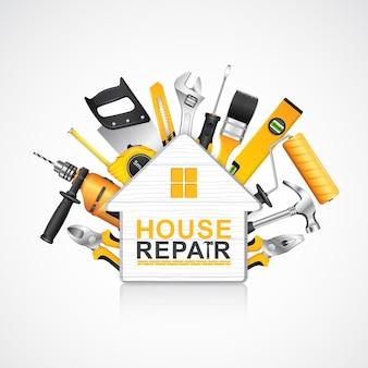 Zestaw narzędzi budowlanych dla budowniczych domów