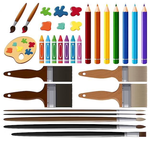 Zestaw narzędzi do malowania