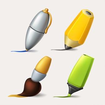 Zestaw narzędzi do rysowania i pisania