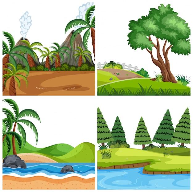 Zestaw natute krajobrazu