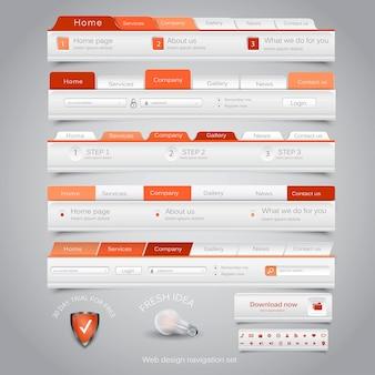 Zestaw nawigacyjny do projektowania stron internetowych.
