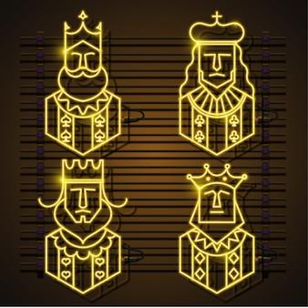 Zestaw neonów king