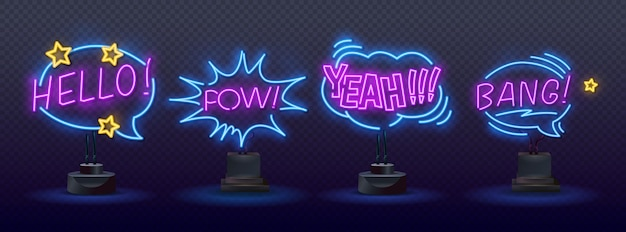 Zestaw neonów klaunów