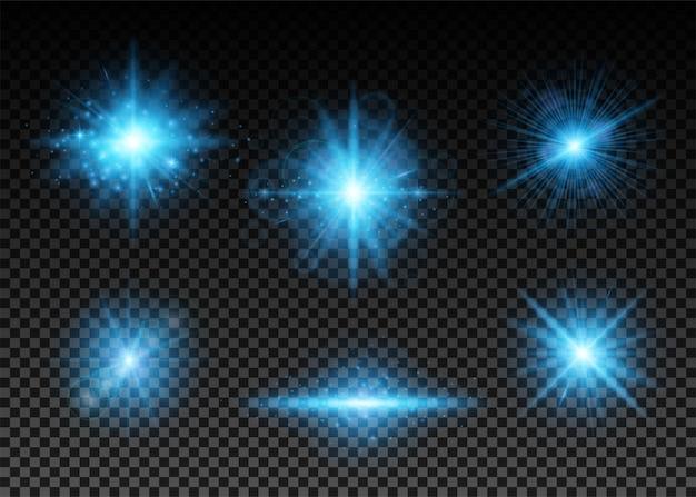 Zestaw niebieskich świateł
