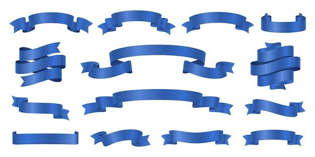 Zestaw niebieskich wstążek