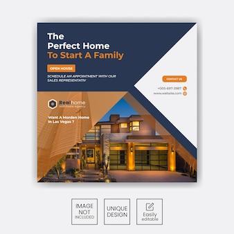 Zestaw-nieruchomości-sprzedaż-domu-instagram-social-media-post-design