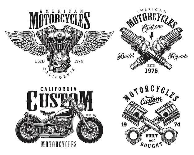Zestaw niestandardowych emblematów motocyklowych