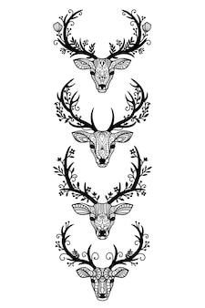 Zestaw niezrównanych dekoracyjnych ilustracji piór