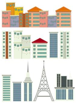Zestaw nowoczesnego budynku