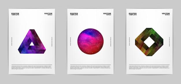 Zestaw nowoczesny plakat streszczenie zestaw