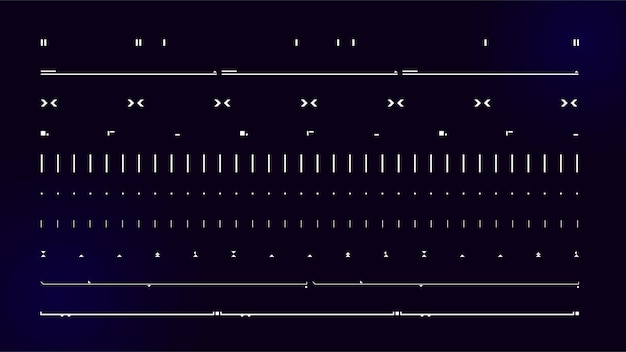 Zestaw nowoczesnych elementów interfejsu użytkownika sci fi futurystyczny abstrakcyjny hud dobry dla interfejsu użytkownika gry