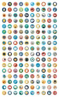 Zestaw nowoczesnych ikon wektorowych edukacji