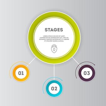 Zestaw nowoczesnych koncepcji biznesowych infografiki
