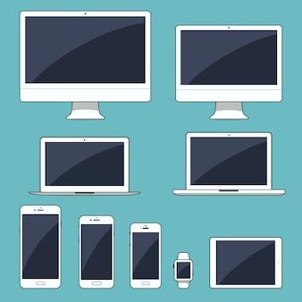 Zestaw nowoczesnych urządzeń elektronicznych