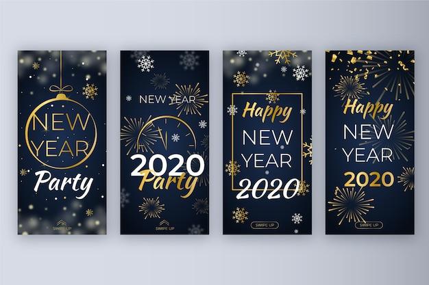 Zestaw noworocznych imprez na instagramie
