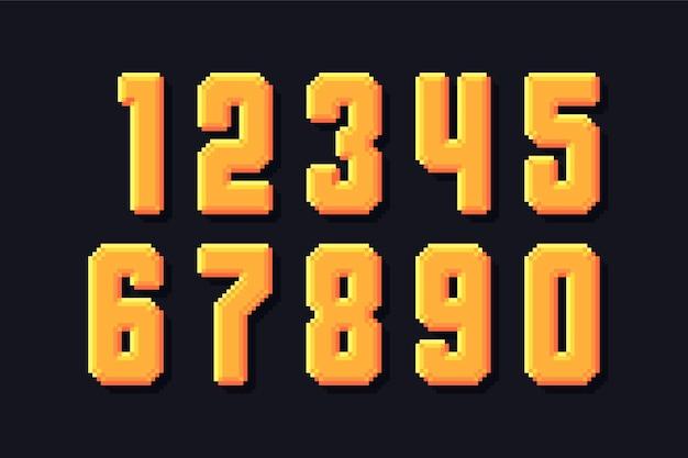 Zestaw numerów pikseli