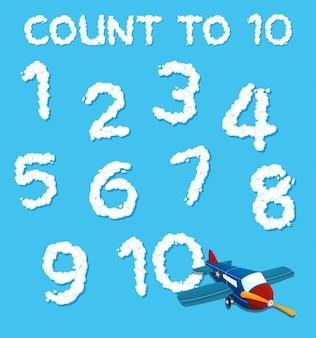 Zestaw numerów w chmurze