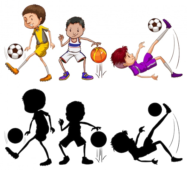 Zestaw o charakterze sportowca