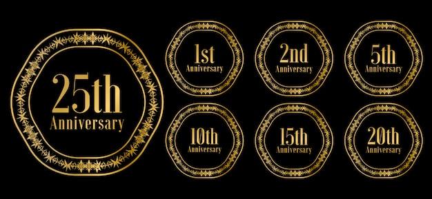 Zestaw obchodów złotej rocznicy premium