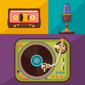 Zestaw obiektów audio