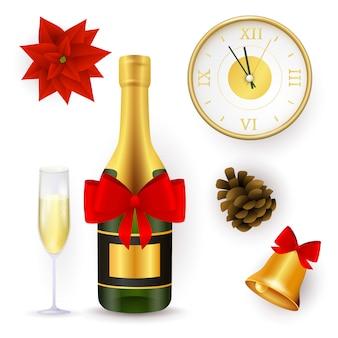 Zestaw obiektów nowego roku