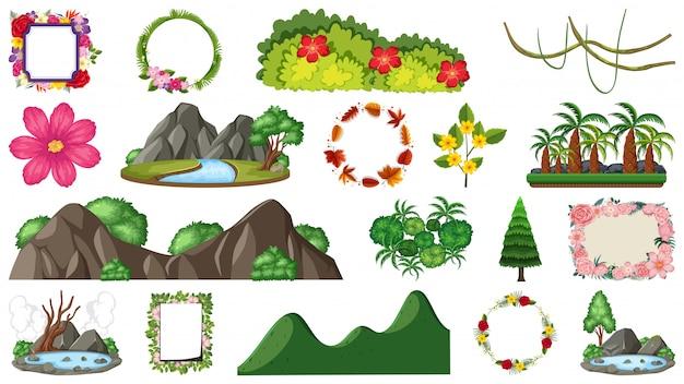Zestaw obiektów przyrodniczych