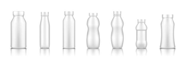 Zestaw odbiorcy mleka na białym tle