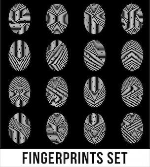 Zestaw odcisków palców