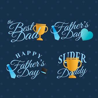 Zestaw odznak dzień ojca