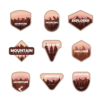 Zestaw odznak górskiej przygody