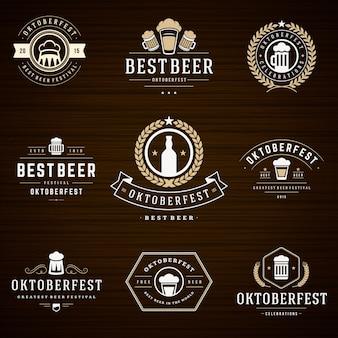 Zestaw odznak i logo oktoberfest