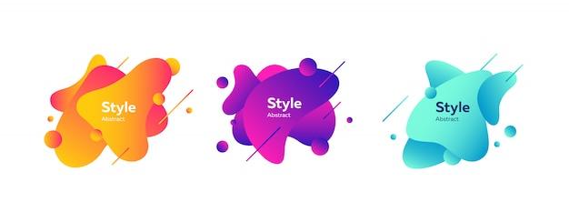 Zestaw odznak kreatywnych dla aplikacji