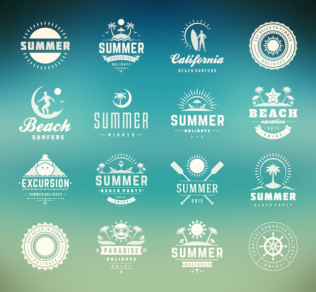 Zestaw odznak letnich