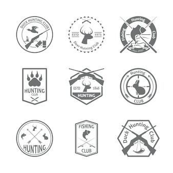 Zestaw odznak myśliwskich