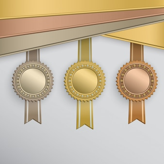 Zestaw odznak nagrody