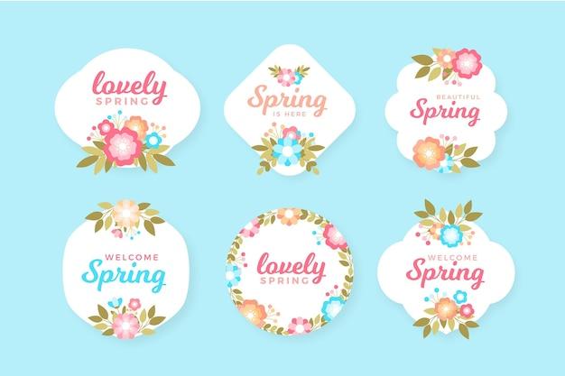 Zestaw odznak płaskich wiosna