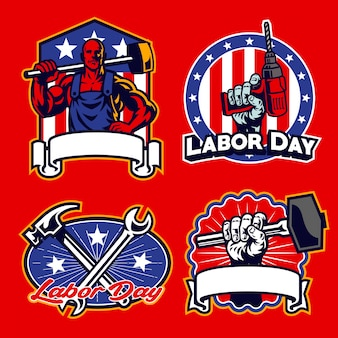 Zestaw odznak pracy