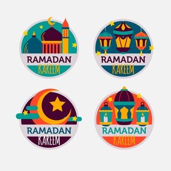 Zestaw odznak ramadan płaska konstrukcja