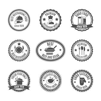 Zestaw odznak restauracyjnych