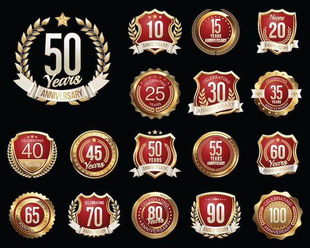 Zestaw odznak rocznicowych