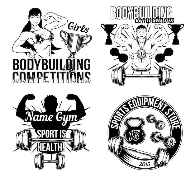 Zestaw odznak siłowni