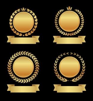 Zestaw odznak złotej nagrody