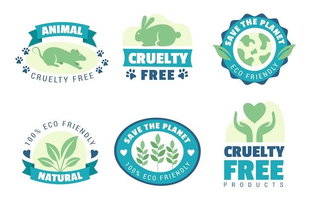 Zestaw odznaki cruelty free