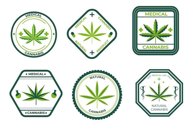 Zestaw odznaki medycznej marihuany