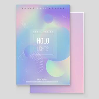 Zestaw okładek marmurowych z papieru folia holograficzna.