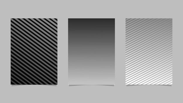 Zestaw okładek z geometrycznym paskiem gradientu