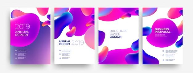 Zestaw okładki broszury, raport roczny
